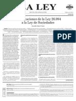 Modificaciones a Ley de Sociedades - LA LEY