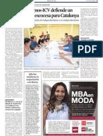 La Vanguardia. Confluencia de Izquierdas en Catalunya