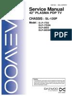 Daewoo Sl120p Chassis Dlp17d3 Plasmatv