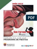 Programa de San Fermín 2015