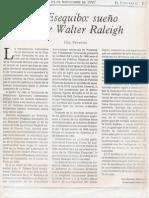 Esequibo Sueño de Sir Walter Raleigh. Eloy Reverón