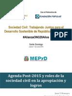 Presentación Juan Tomás Monegro, MEPyD. Seminario Sociedad Civil, , por los 20 años de fundación de Alianza ONG
