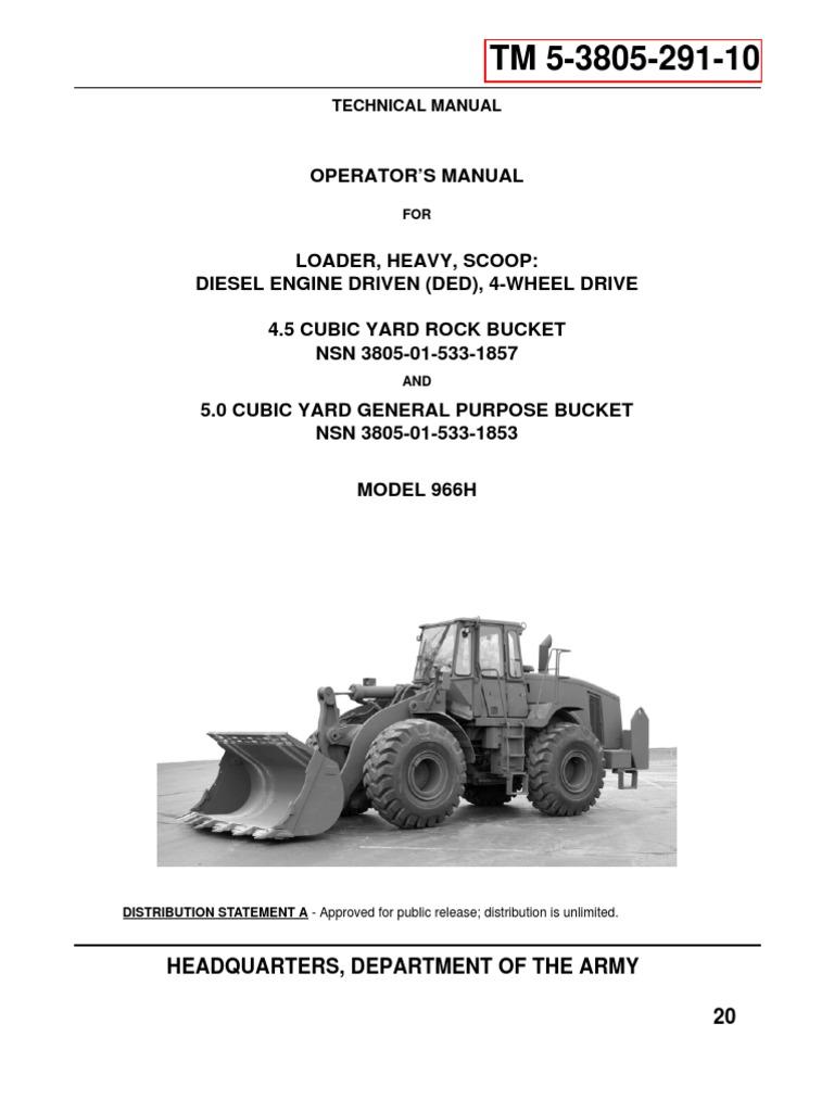 tm 5 3805 291 10 caterpillar mdl 966h exhaust gas carbon monoxide rh scribd com cat 966g service manual cat 966h service manual