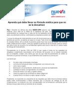 10 de Julio - Requisitos de Una Formula Médica
