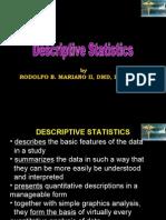 Descriptive Statistics Handout