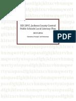 2014 literacy plan jcc