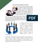 Gestión de Recursos Para La Implementación de Proyectos
