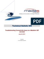 Technical Bulletin Troubleshooting Connectivity Issue on Mediatrix SIP v5.0 Units