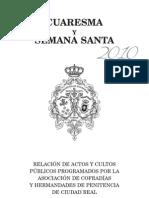 Programa de Actividades de la Semana Santa de Ciudad Real