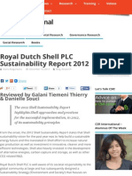 Royal Dutch Shell PLC Sustainability Report 2012 - CSR International