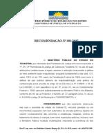 Recomendacao Poluicao Sonora e Apuracao de Responsabilidade Criminal MP-To