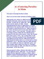 Warranty of entering Paradise in Islam