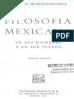 Ibargüengoitia,A. Filosofía Mexicana. 1a. Parte