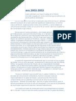 Paro Pétrolero 2002 Formacion Critica II