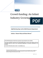Crowd Funding an Infant Industry Growing Fast