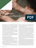 Wisdom of Crowdfunding
