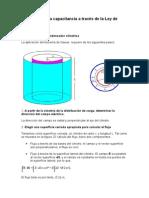 Deducción de La Capacitancia a Través de La Ley de Gauss