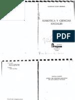 Greimas - 1980 - Semiótica y Ciencias Sociales