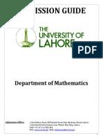Adm.guide Mathematics