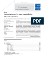 9 Urine Treatment Methods (Maurer Water Research Paper, 2006)