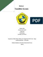 Referat Tonsilitis Kronis