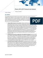 Worldwide Mobile Phone 2015–2019 Forecast and Analysis