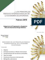 Riesgos internacionales del Ecuador