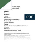 Proyecto de Investigacion la gasolina Alejandra Quiñones