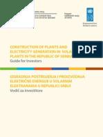 UNDP_SRB_So.lar Power Plants - Brief Guide