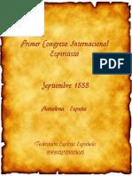 Primer Congreso Internacional Espiritista 1888