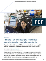 "'000 Febre"" Do WhatsApp Modifica Receita Tradicional Da Telefonia _ Economia _ Gazeta Do Povo"