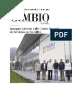 07-06-2015 Diario Matutino Cambio - Inaugura Moreno Valle Centro Integral de Servicios en Teziutlán