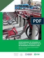 Oportunidades de Desarrollo Orientado al Transporte y bajo en emisiones en Guadalajara