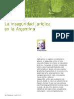 Inseguridad Juridica en Argentina