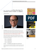 El Hombre Más Rico de Asia Te Enseña Como Invertir Tu Salario