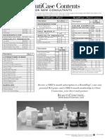 Case Content Sheet 0805