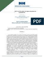 LO 12/2007 sobre regimen disciplinario de la GC