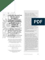 A Doença Mental No Direito Penal Brasileiro - Inimputabilidade, Irresponsabilidade, Periculosidade e Medida de Segurança