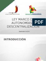 Ley Marco de Autonomia