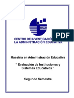 Evaluacion de Instituciones y Sistemas Educativos (EXCELENTE)