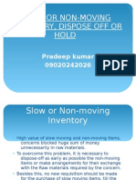 Slow or Non-moving Inventory, Dispose Off Or