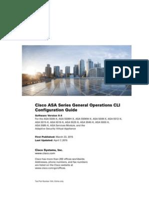 Asa General | Command Line Interface | Firewall (Computing)