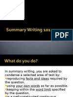 Summary Writing 101