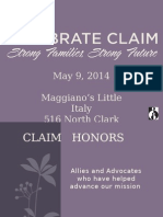 CLAIM 2014 Honorees