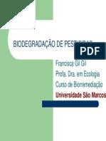 Biodegradação de Pesticidas