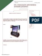 Equipo de Digitación y Transcripción Administrativa Operación y Mantenimiento Preventivo