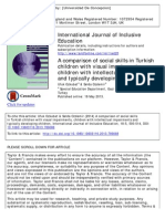 A Comparision of Social Skills in Turkish Children With Visual Impairments, Children With Intellectual Impairments and Typically Developing Children