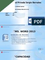 Microsoft Word 2010 DIAPOSITIVAS