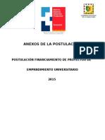 Anexos Postulación Tupf-uct 2015