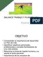 Balance Trabajo y Plan de Vida